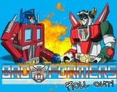 Transformers Optimus Prime and Voltron Broformers Print