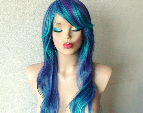 blue and purple wavy - photo #11