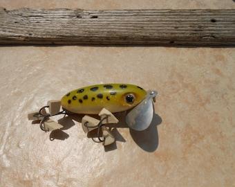 Vintage Medium Jitterbug by Red Arbogast Fishing Lure