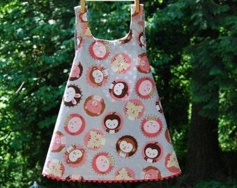 Reversible Animal Pinafore Dress,  size 3T