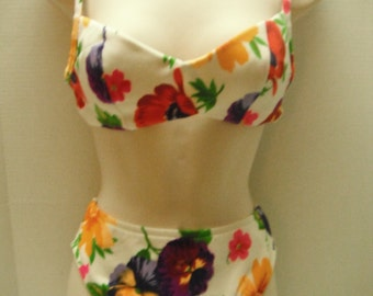 Vintage Ilusions by Cole two-piece swimsuit, size 10