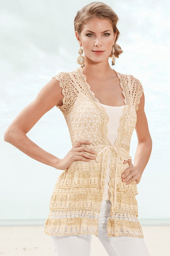 CROCHET FASHION TRENDS exclusive crochet cardigan - made to order