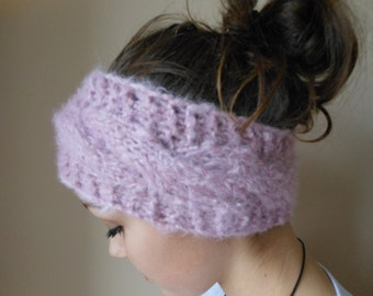 Knit Headband  Ear Warmer Head Warmer  Pink