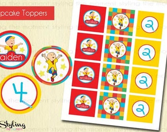 Caillou Cupcake Toppers and FREE Wrappers