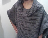 Roman Style Crochet Cowl Sweater