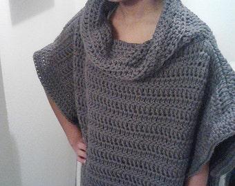 Free Crochet Pattern For Poncho Sweater : Crochet Roman Style Sweater Poncho