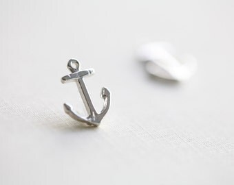 Sterling Silver Anchor Charm Pendant 01 - 925 silver nautical charm, summer fashion