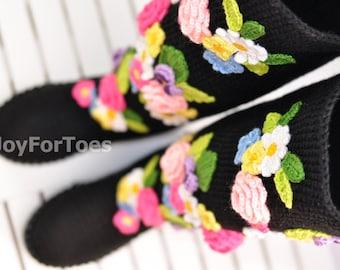 Crochet Boots for the Street Spring Fashion Folk Tribal Boho Boots Made to Order Pavlov Posad