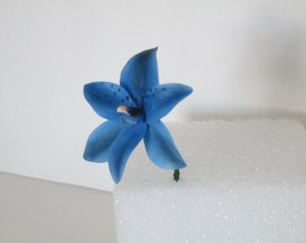 sun orchid blue gumpaste sugar wedding bridal cake topper edible asian inspired oriental themed fathers day