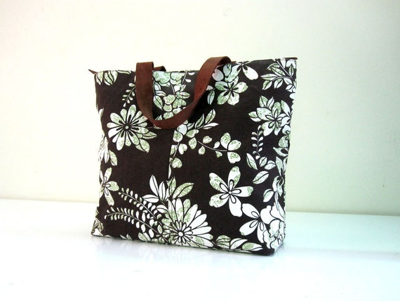 Floral Canvas Tote Bag - SM35