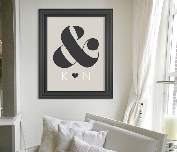Custom Gift for Newlyweds // Personalized Engagement Gift // Modern Wedding Gift Keepsake Art Print // Anniversary Gift // Gift for Couple