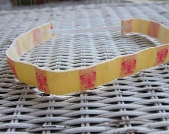 Yellow Lobster Headband, Girls Nautical Headband
