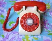 Orange and Cream Northern Telecom Rotary Phone