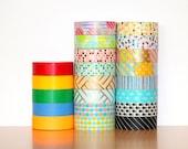 MT washi tape sampler, group C - Choose 9 patterns