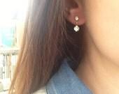 Dot earrings - Crystal earrings - Minimalist jewelry - Elegant everyday jewelry