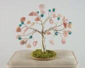 October Birthstone Tree - Pink Peruvian Opal