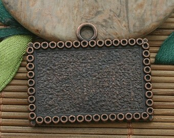 4pcs copper tone picture frame charm h3550