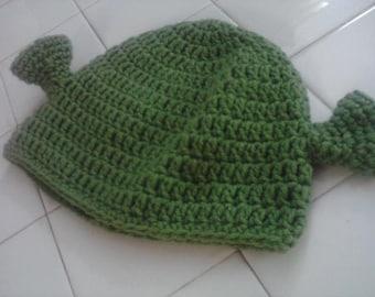 Shrek Hat - Crocheted