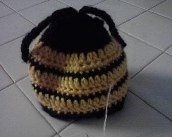 Bumblebee Hat - Crocheted