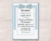It's a Boy Couples Baby Shower Custom Printable Invitation 5x7