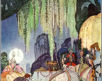 Sublime Art DECO In Power and Crinoline. Kay NIELSEN Fairy Tale VINTAGE  Illustration. Digital Illustration Download. From First Edition