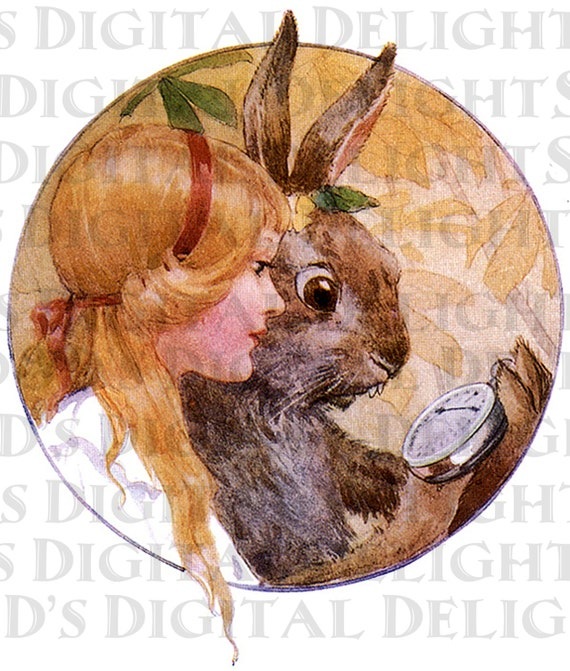March Hare Alice In Wonderland: ALICE And The MaRcH HaRe. Alice In Wonderland. Vintage