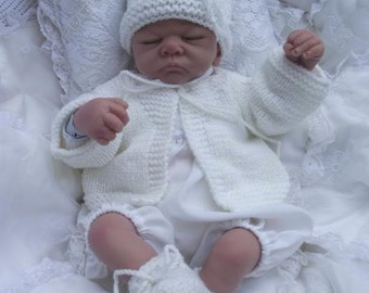 baby jacket /hat /shoe/ set ...  lovely set for baby or reborn