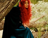MERIDA inspired Adult Costume Couture Princess Wig