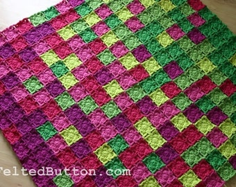 Colorful Crochet Blanket Pattern, Flying Colors
