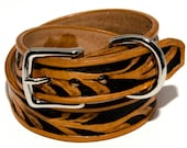Murcia Vineyard: Handmade Carved Vine Leather Dog Collar (Black and Brown)