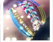 Rhinestone Friendship Bracelet - Jewelry  Chevron Friendship Bracelets with Strass - Set of 4