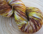 Freckle - 100g Hand Dyed 75% Superwash wool/ 25 percent Nylon Sock Yarn