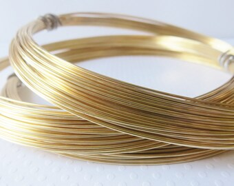 Red Brass Wire, 20 gauge, Half Hard Temper for Wire Wrapping, Raw Brass Nu Gold Wire, Uncoated