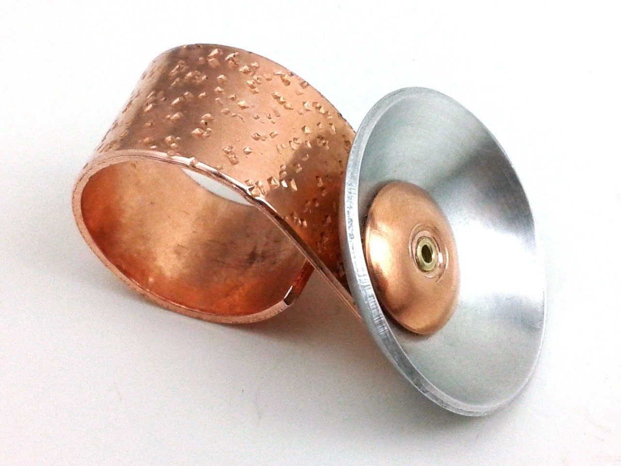 Sale Copper Cocktail Ring Knuckle Duster Band Funky