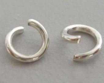 10mm Silver-Plated Metal Jump Rings
