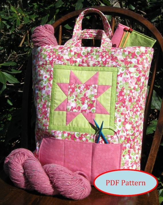 Knitting Organizer Tote PDF Quilting & Sewing Pattern