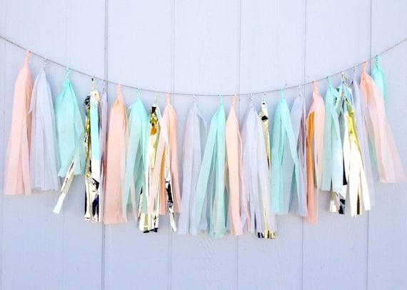 pastel metallic bunting