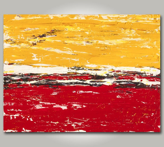 Red And Yellow Abstract Art Original Abstract Art Red
