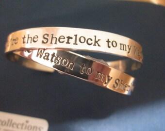 Sherlock   You're the Watson to My Sherlock your the Sherlock to my Watson SOLID STERLING SILVER