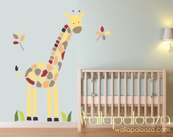 Giraffe Wall Decal - Nursery, kids room - Baby room giraffe decal - Giraffe