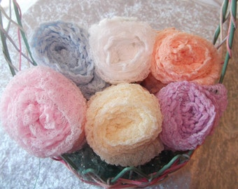 Set of Six Photography Props, Cheesecloth Wraps..Girl Photo Wraps.Newborn Wraps..  Swaddle Wraps