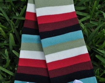 Dark girl stripe Leg Warmers