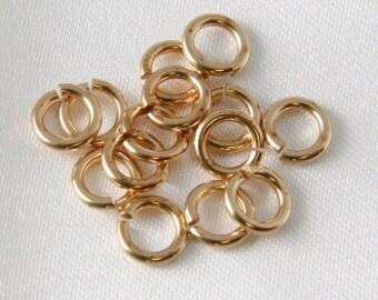 100 pcs - 9mm Outside Diameter Jump Rings Jewelers Brass