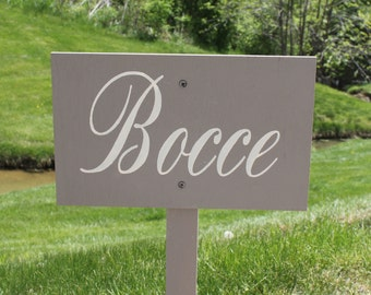 Bocce Sign//U Choose Colors/Great Shower Gift/Wedding/Event/Party Sign