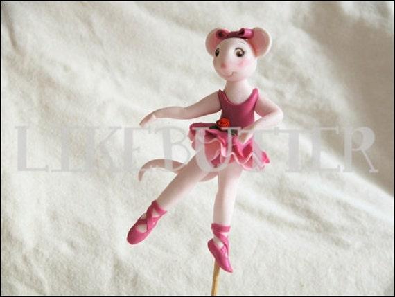 Edible Ballerina Mouse Cake Topper