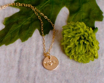 Couples Necklace - Two Hebrew Initial Necklace with a Heart - Love Necklace - Tiny Gold Hebrew Initial Necklace - Jewish Wedding