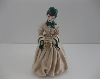 Florence Ceramics Dalia Lady Figurine Pasadena California Signed