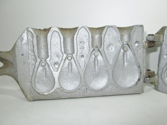 Vintage tonawanda sinker mold fishing weight for Fishing sinker molds