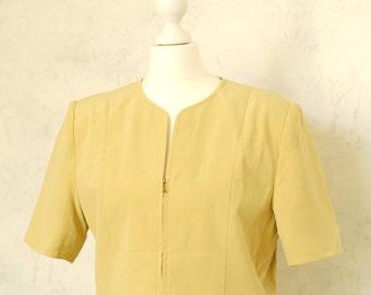 VTG 80s mustard silk jacket