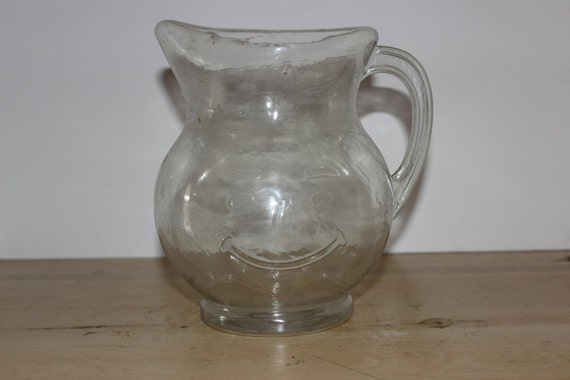 vintage glass kool aid miling pitcher